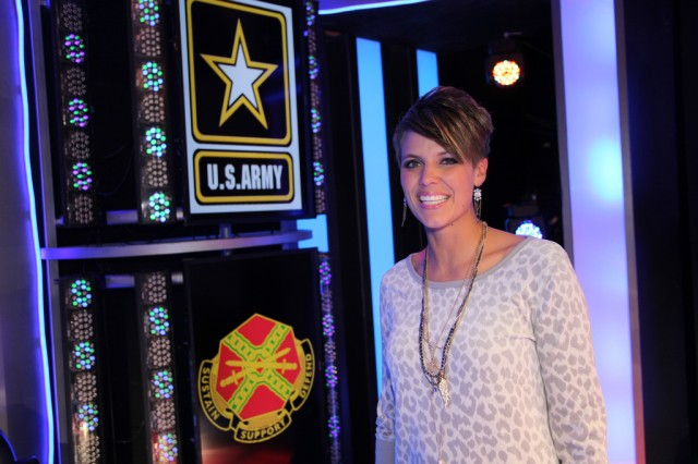 Sgt. Christiana Ball at the 2013 Op Rising Star Competition