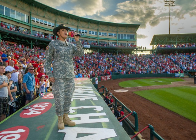 Sgt. Christiana Ball wows sports audience