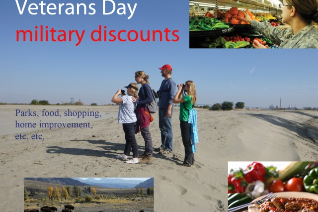 National Parks and Army Corps of Engineer Recreation area are waiving entry fees for veterans, service members and their families, Nov. 11, 2014. Many restaurants and retailers are also offering deals to vets and Service members.
