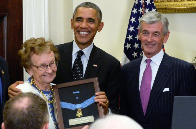 President awards MOH to Cushing's cousin