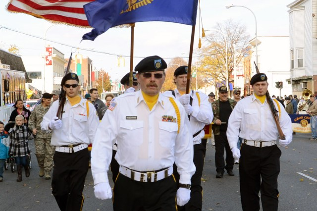 Town of Nassua American Legion Color Guard participating with the arsenal.