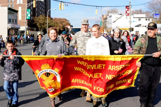 No matter what their age was, we put everyone to work in the arsenal's parade contingent.