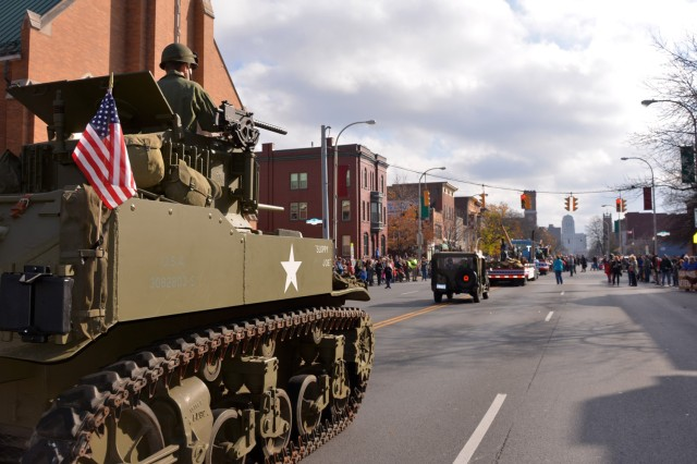 Vehicles and members from the Hudson-Mohawk Military Vehicle Collectors' Club have been a part of the arsenal's parade contingent since its first parade in 2009.