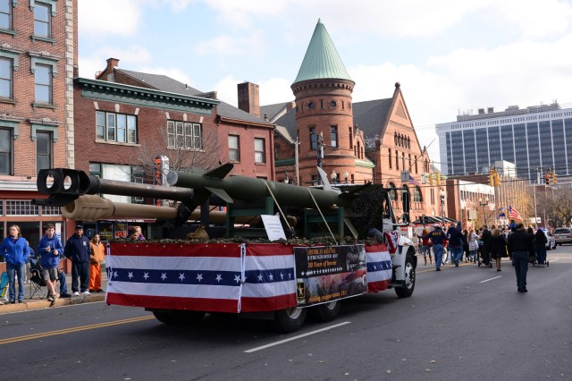 One of two arsenal floats.