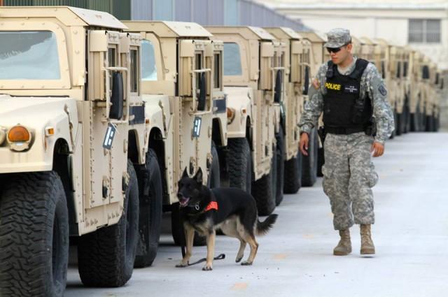 K9, Soldiers conduct anti-terrorism training
