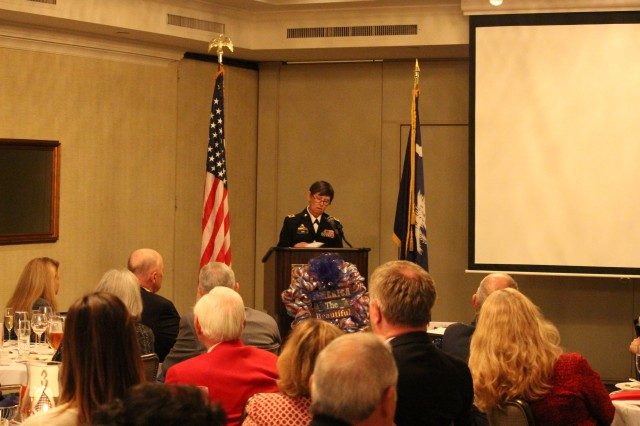 The 81st Regional Support Command, Commander Maj. Gen. Janet Cobb was the guest speaker at the seventh annual Capital City Club of Columbia's Veterans Day Celebration on November 11, 2014. U.S. Army photo by Staff Sgt. Toshiko Gregg, 81st Regional Support Command Public Affairs.