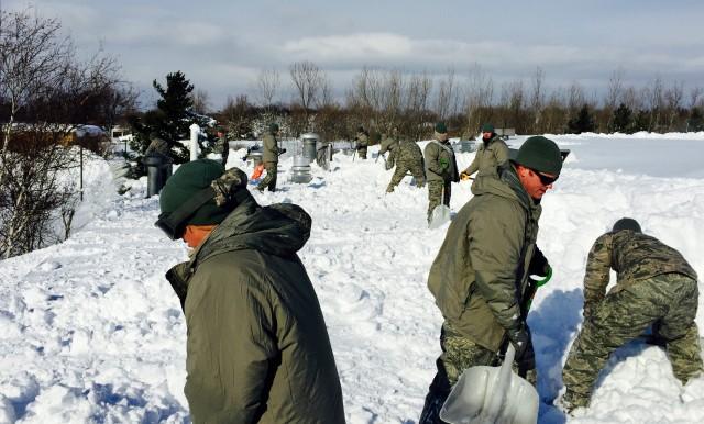 Guard snow removal