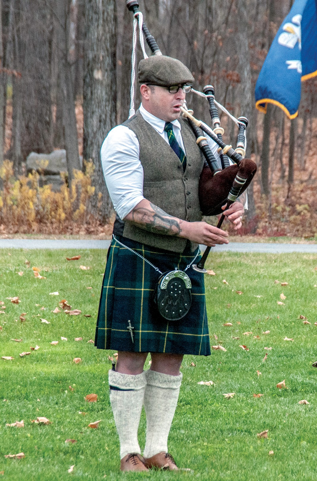 Former punk rocker, Irish bagpipe talent brings unique flair