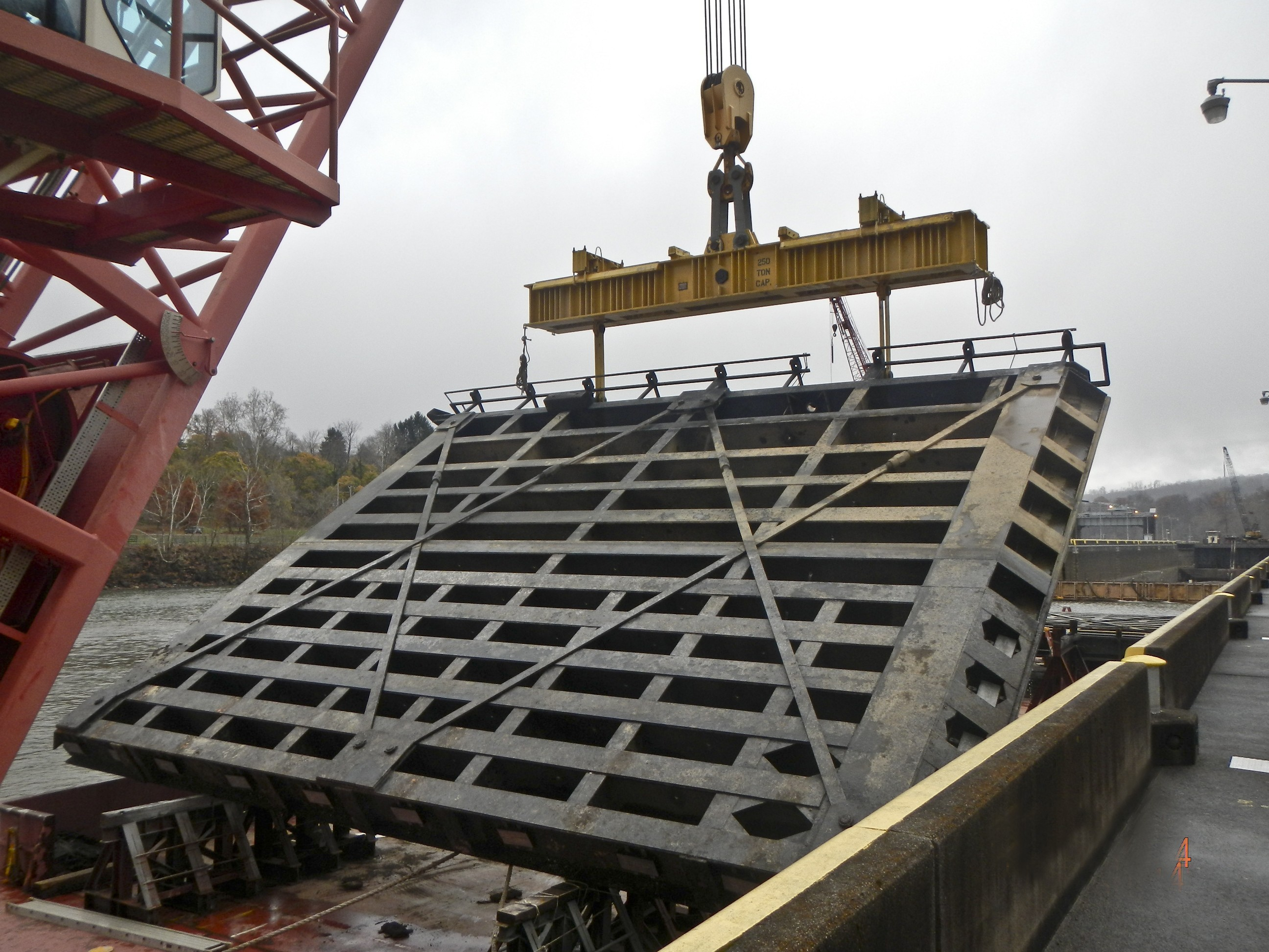 Morgantown Lock Dewatering Reveals Severe Damage Article