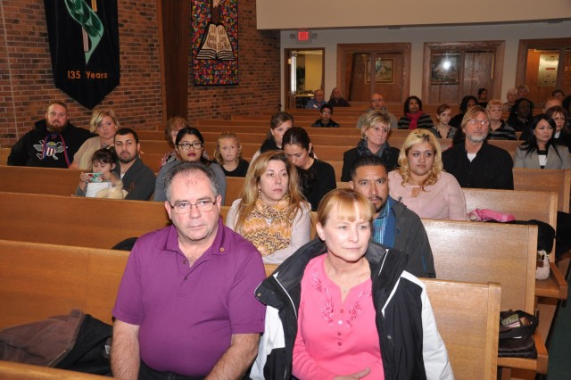 Families of lost service members came to honor them in a remembrance ceremony at St. John Lutheran Church in Darien, Ill., as part of the 416th Theater Engineer Command Family Programs.