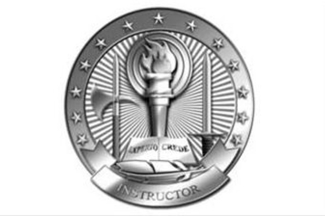 Basic Instructor badge approved for NCOA wear.
