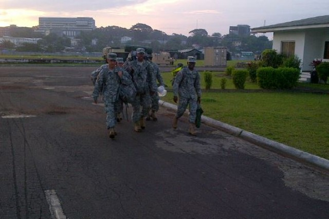 """Time Magazine selected """"Ebola fighters"""" as its 2014 Person of the Year and Soldiers from the 20th CBRNE Command's 1st Area Medical Laboratory, in West Africa are a part of the U.S. effort to contain the most deadly Ebola outbreak in history."""