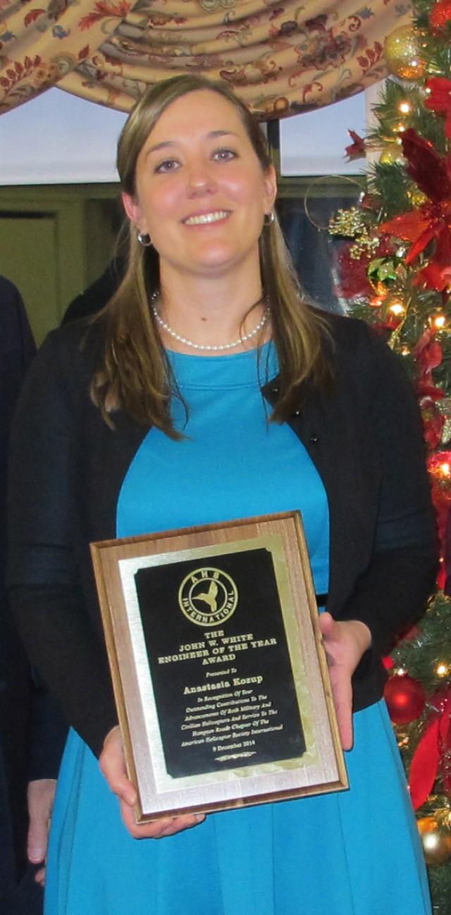 Award recipient Anastasia Kozup