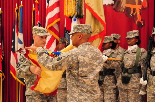 13th SC(E) uncases colors, assumes logistics mission in Kuwait
