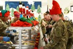 Christmas meal at Bagram Airfield
