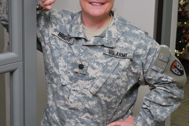 Lt. Col. Renié Bright is an Army Reserve acquisition adviser is at the Army Contracting Command headquarters
