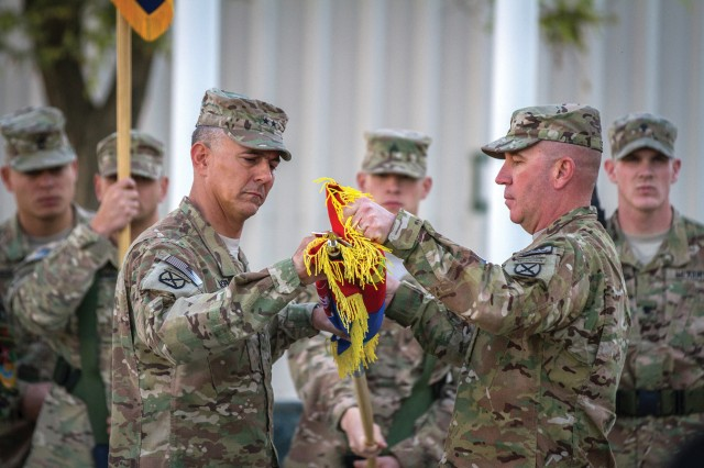 Combined Joint Task Force-10 completed their mission in Regional Command-East as Maj. Gen. Stephen J. Townsend and Command Sgt. Maj. Ray Lewis case their colors as the International Security Assistance Force transitioned to the Resolute Support mission Nov. 4 at Bagram Airfield, Afghanistan.