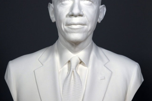 The University of Southern California's Institute for Creative Technologies was part of a Smithsonian-led team that created 3-D portraits of President Barack Obama. The portraits include a digital and 3-D printed bust and life mask. Both were on display at the first-ever White House Maker Faire on June 18.