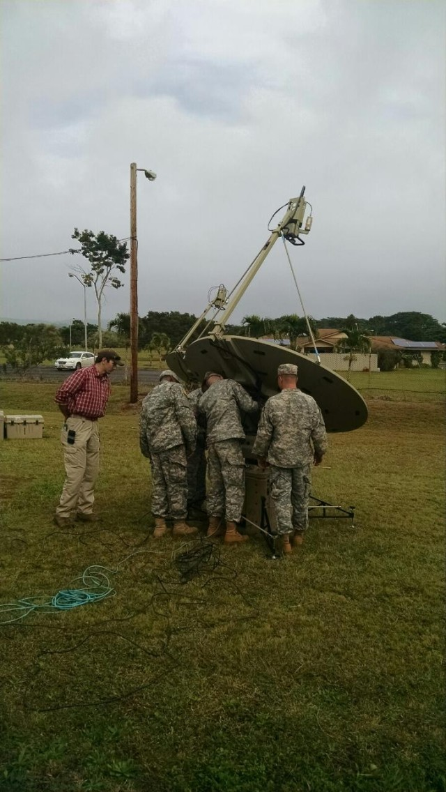 Pacific Signal University in the field