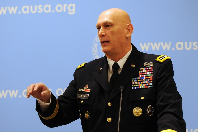 "Army Chief of Staff Gen. Ray Odierno told Association of the U.S. Army members, Jan. 22, that defense cuts and peace dividends didn't happen as the country withdrew from Iraq and Afghanistan and ""that's a concern."""