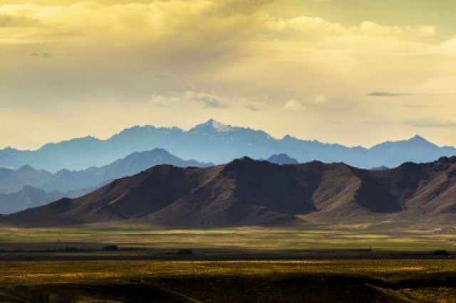 """Maj. Ryan Foley, of Kaiserslautern, Germany, took first-place honors in the active-duty military division nature and landscapes category of the 2014 Army Digital Photography Contest with his photo, """"View from Apache."""""""
