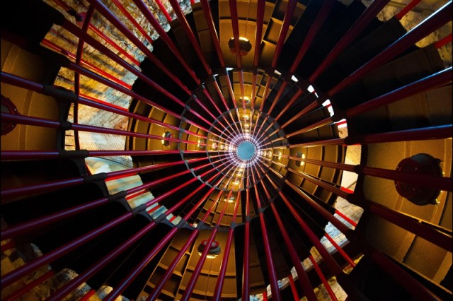 Staff Sgt. Pablo Piedra of Grafenwoehr, Germany, takes second place in the active duty military division design elements category of the 2014 Army Digital Photography Contest with Double Helix, an upward view of a double staircase in Ljublijana Castle in Slovenia.