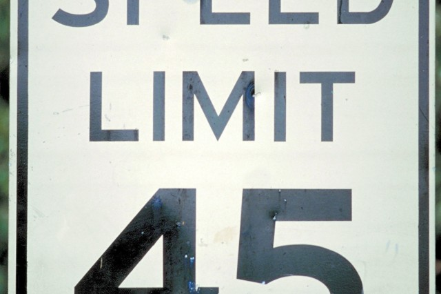 Speed limits are laws that must be followed.