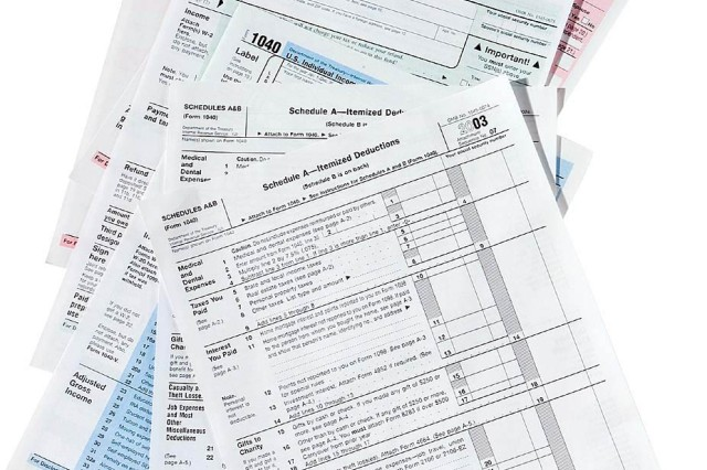 Tax forms are available at the Tax Center.