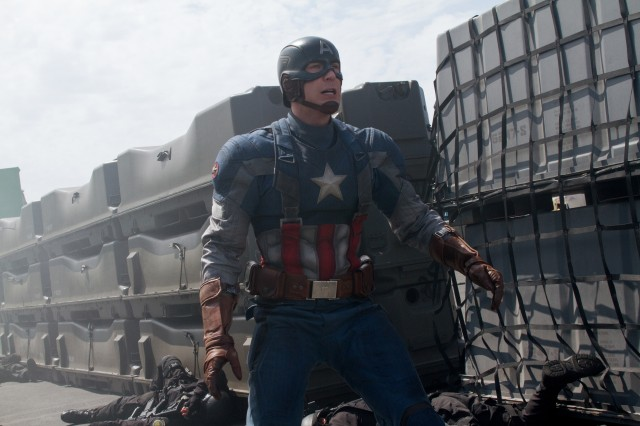"""Chris Evans plays Captain America in """"Captain America: The Winter Soldier."""" (Courtesy photo)"""