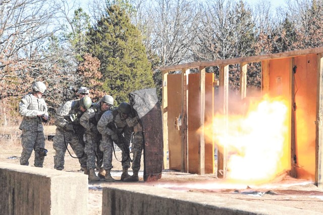 Soldiers from Company A, 35th Engineer Battalion, 1st Engineer Brigade, spent a portion of their Advanced Individual Training learning to build and use different kinds of breaching charges Feb. 5.
