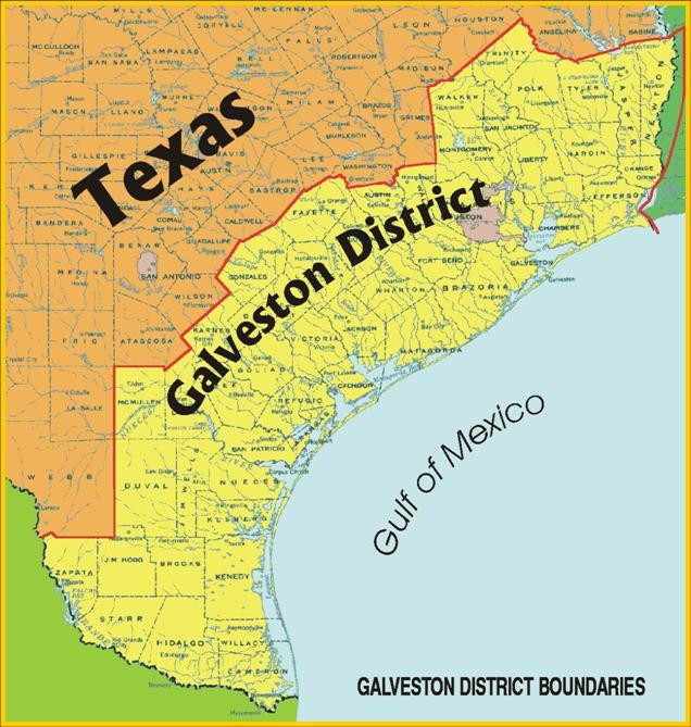 Galveston Map Of Texas.District Awards Geotechnical Services Contract As Part Of Sabine