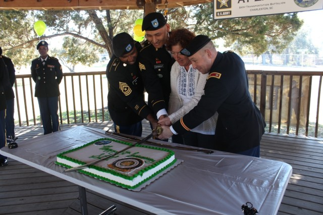 841st Trans. Bn. cuts SDDC 50th Anniversary Cake