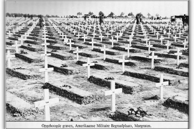 Gravesites line the Netherlands American Cemetery in Margraten.