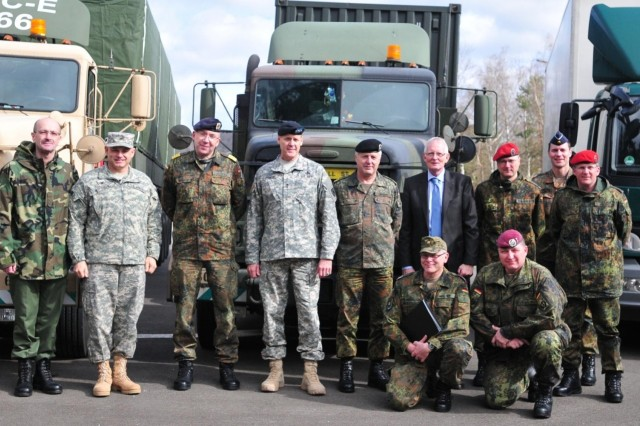 21st Tsc And Bundeswehr Logistics Command Sign Historical
