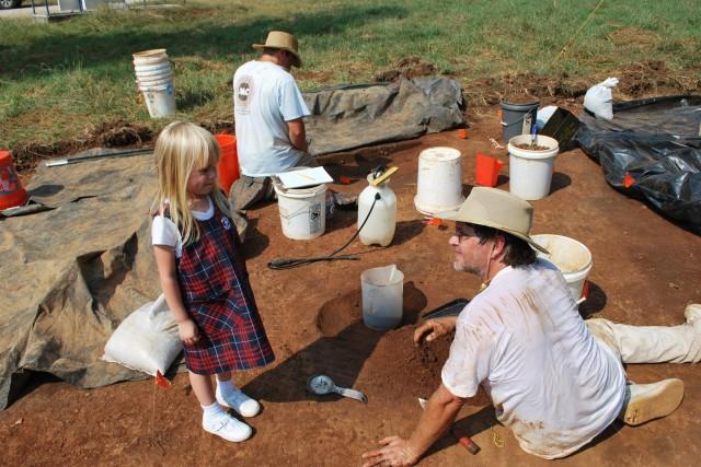 Rehistoric excavation at RSA