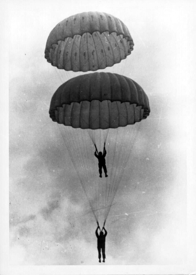 Chaplain Kozak parachute jump exercise