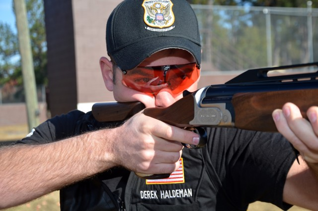 Sgt. Derek Haldeman captures the bronze medal by defeating Kuwait's 2000 Double Trap Olympic bronze medalist and 2012 Trap Olympic Silver medalist Fehaid Aldeehani during the International Shooting Sport Federation Shotgun World Cup.