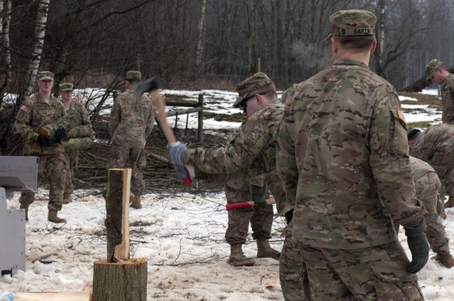 2d Cavalry Regiment Troopers aid Latvian youth camp