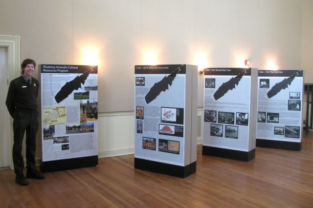 Picatinny's storyboard exhibit was displayed at the Morristown National Historic Park from April to June 2014, as part of a mitigation effort with the New Jersey State Historic Preservation Office.