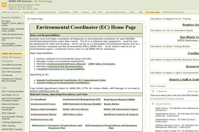 Environmental Intranet