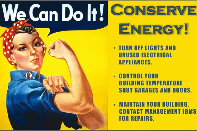 Beginning April 2014, Training Area and Community Centers (TACCs) that have a consistent year of energy data and have not had improvements to the energy infrastructure in the past or current year are competing in an energy efficiency challenge.  Awareness materials were distributed across the state to help encourage behavior change. The goal for this project is to reduce energy intensity at each facility by 3% from the previous year through engagement and influencing behavior change.