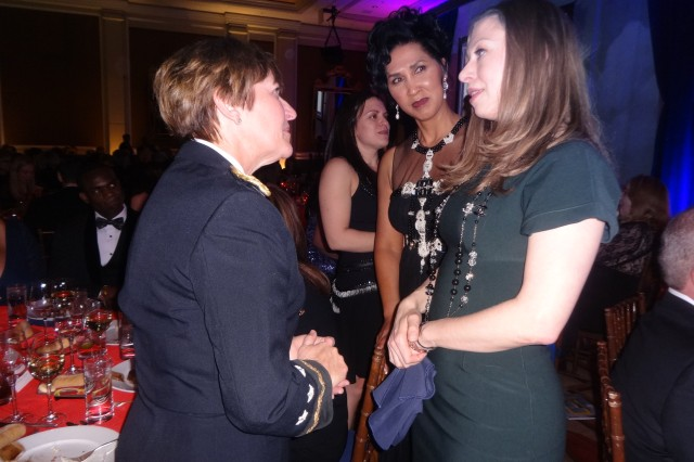 Lt. Gen. Patricia Horoho, Army surgeon general, chats with former first daughter Chelsea Clinton, who was this year's Heart Ball guest of honor.