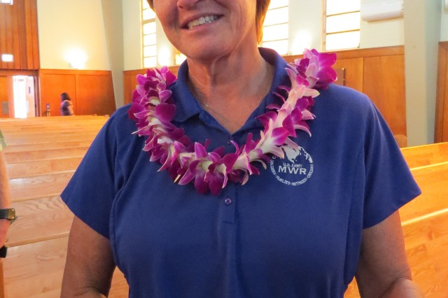 Shelly K. Leslie, chief, Outdoor Recreation, Directorate of Family and Morale, Welfare and Recreation, was named Employee of the Year for 2014.