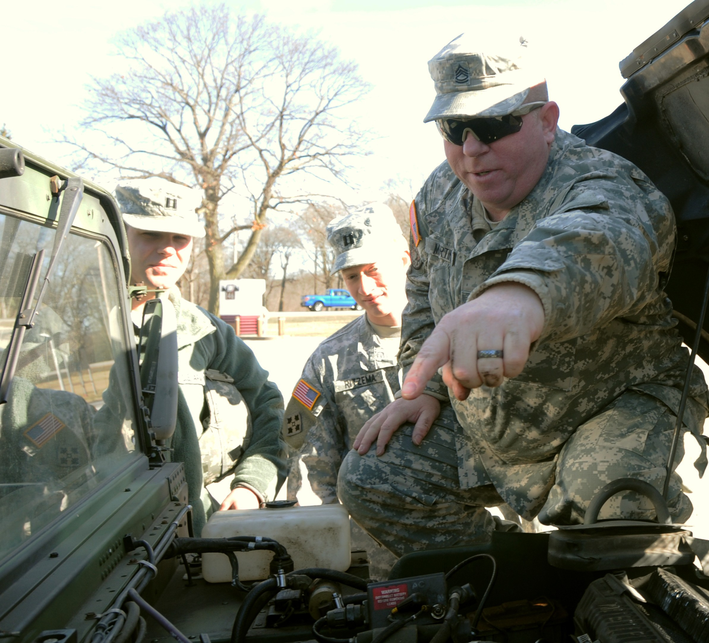 First Army officers tackle driver training Article
