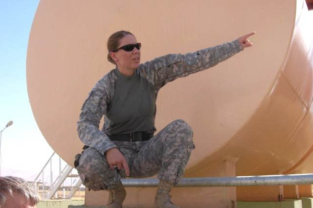 Sgt. 1st Class Donna Vance, a recruiter for the New York Recruiting Battalion, living in New Haven, Conn., has 17 years of service and deployed twice to Iraq as an Army engineer. She is one of the women interviewed to give a woman's perspective of what it's like to serve in the Army as a female Soldier. (Courtesy photo)