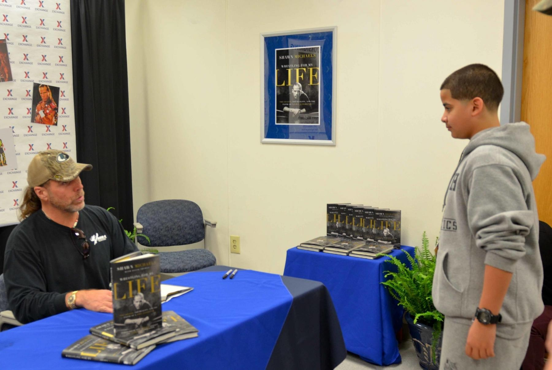 Hall of fame wrestler meets fans for book signing at clear creek px original m4hsunfo