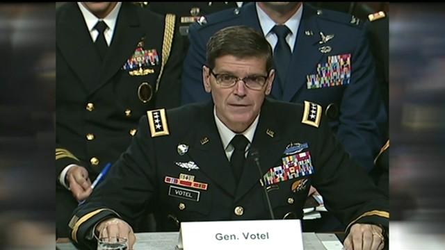Screenshot of Gen. Joseph Votel's testimony