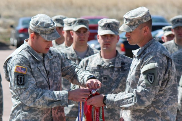 Units from the Fort Carson, Colorado-based 71st Explosive Ordnance Disposal Group received the Valorous Unit Award during a ceremony March 26.