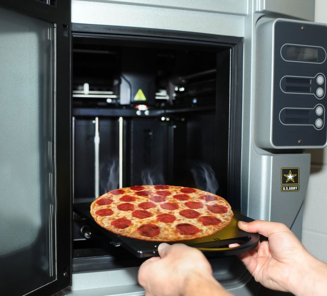 3D printed pizza a reality for Soldiers