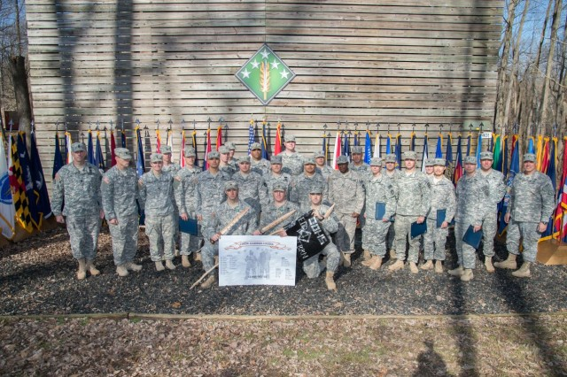 Soldiers, from across nation, graduate from the inaugural Chemical, Biological, Radiological, Nuclear and Explosive Leaders Course at Gunpowder Range, Md., April 2, 2015.